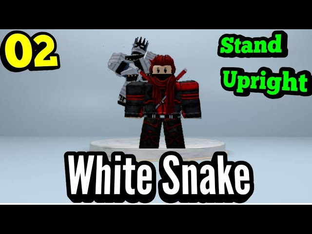 White Snake Full Showcase Roblox In Stand Upright Youtube