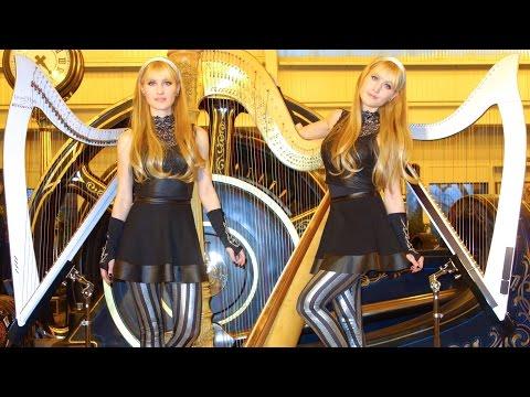 "BLACK SABBATH ""Iron Man"" - 2 Girls 3 Harps (Harp Twins) HARP METAL"