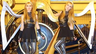 "BLACK SABBATH ""Iron Man"" - 2 Girls 3 Harps (Harp Twins) HARP METAL"