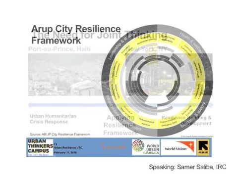 Resilient Cities: Bridging the humanitarian/development divide