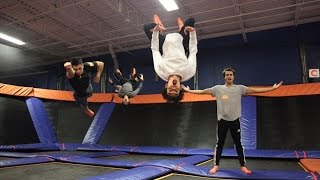 CRAZY TRAMPOLINE TRICKS!
