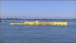 Schwimmender Schutzwall für Venedig