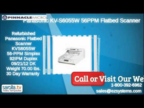 Panasonic KV-S6055W 56PPM Color Duplex Flatbed Scanner