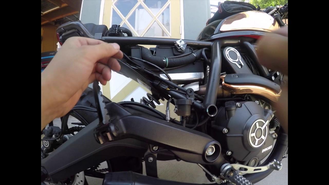 Zard Slim Seat Panel For Cafe Racer Look Install Ducati Scrambler