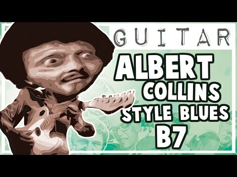 Albert Collins Style Blues Backing Track in B