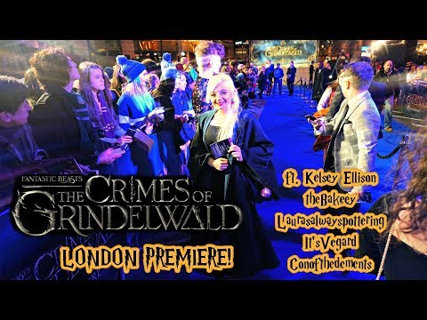 ⚡ CRIMES OF GRINDELWALD PREMIERE IN LONDON! ⚡
