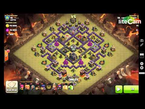 Cold Blooded GoHo. Mantis Base 3 STAR TH9. war attack clash of clans