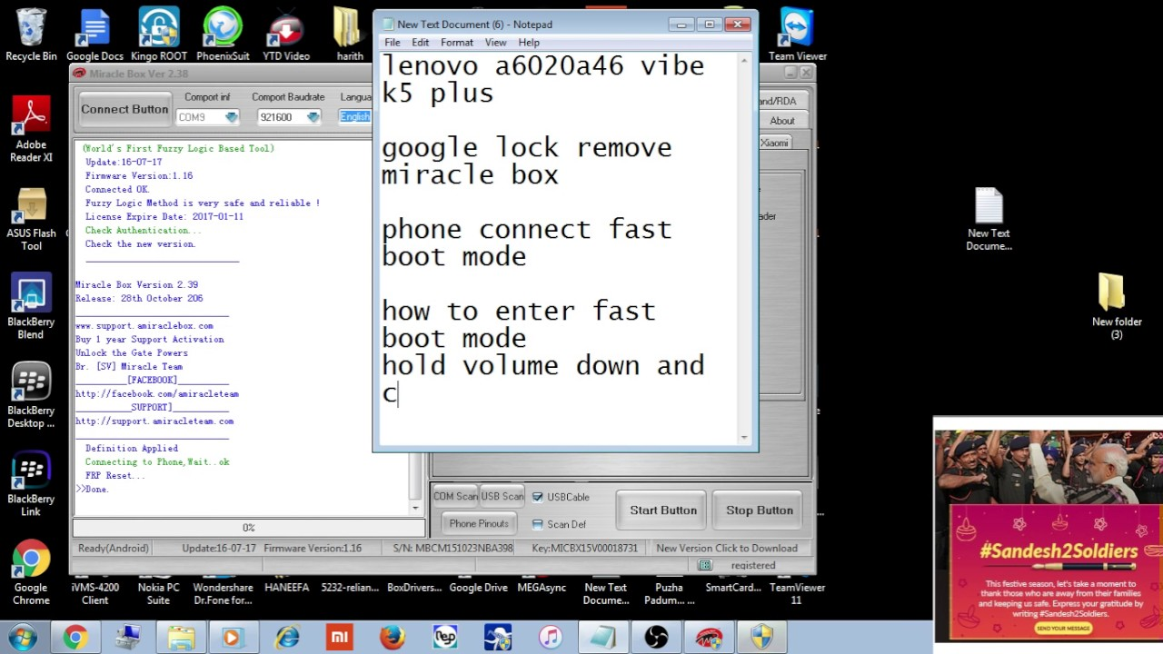 how to remove google lock lenovo a6020a46 vibe k5 plus in miracle box