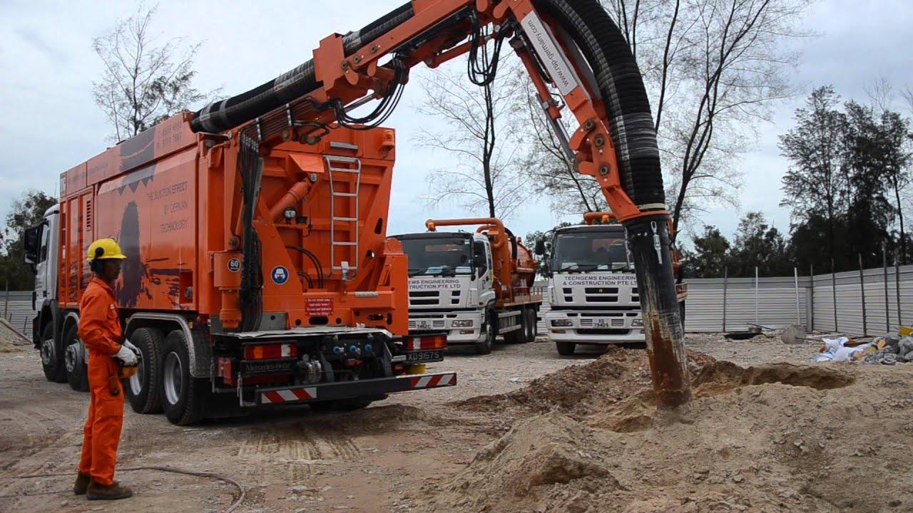 TechGems Suction Excavator Operations - YouTube