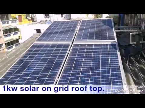 1kw solar on grid roof top.