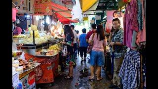 4K 2020 Wang Lang Market Thai food and shopping Bangkok