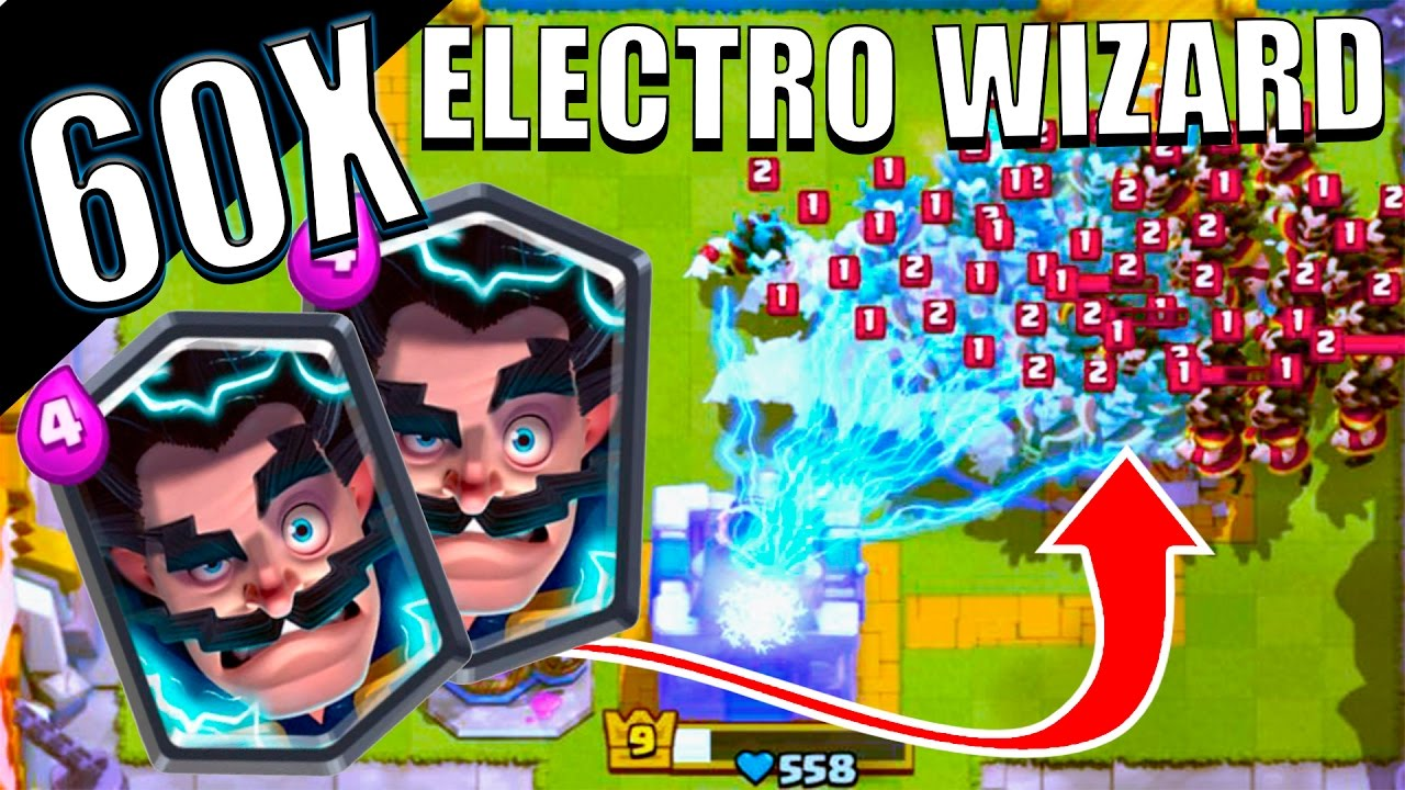60 electro wizards mass gameplay clash royale new