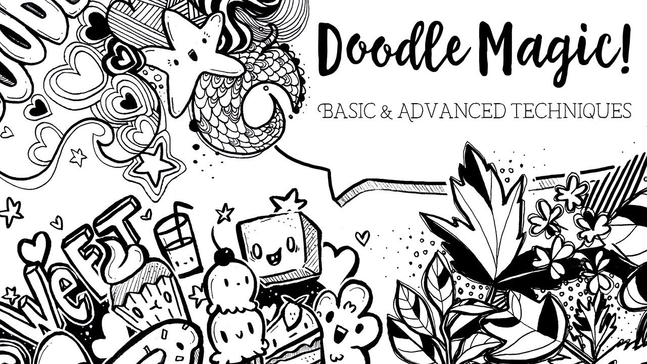 Learn the Basic & Advanced Techniques of Doodling