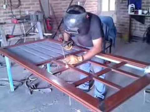 Puerta con duela lamitec youtube - Como hacer una puerta metalica ...
