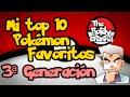 Top 10 Pokémon Favoritos | Tercera generación | TheRoldyChannel