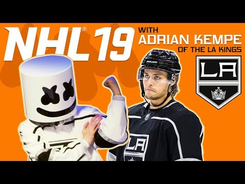NHL 19 Faceoff vs. LA Kings Adrian Kempe | Gaming with Marshmello