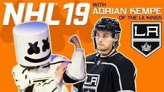 NHL 19 Faceoff vs. LA Kings Adrian Kempe | Gaming with Marshmello thumbnail
