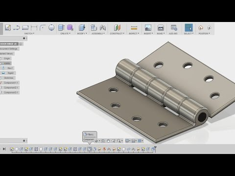 How Make A Door Hinge   Fusion 360 Tutorial