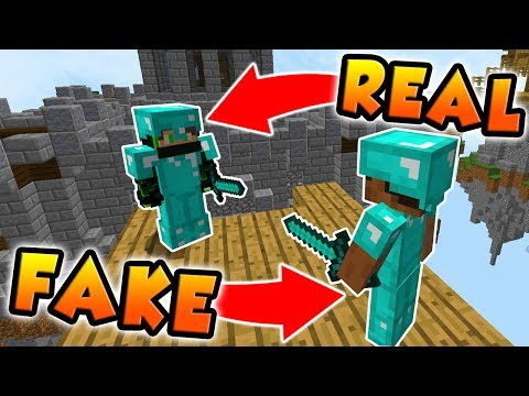 HILARIOUS DIAMOND ARMOUR TROLL IN MINECRAFT SKY WARS!