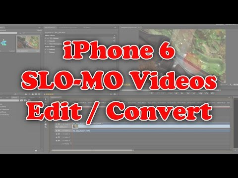 How to edit - convert your iPhone 6 Slo-Mo videos