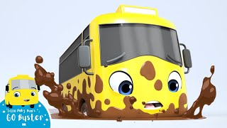 Stuck in the Mud - Go Buster the Yellow Bus | Nursery Rhymes & Cartoons | LBB Kids