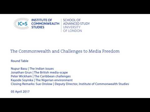 The Commonwealth and Challenges to Media Freedom - Round Table