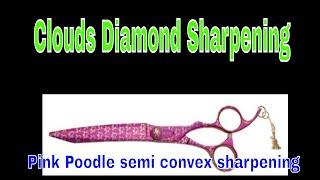 Professional Kenchii Pink Poodle Scissor Sharpening