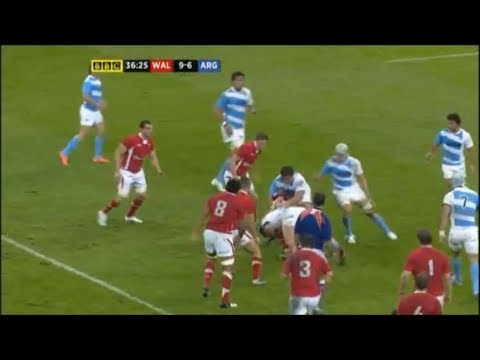 """Leigh Halfpenny """"absolutely munched"""" by Juan Figallo"""