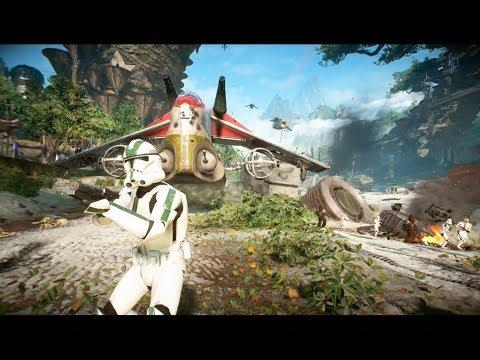 Star Wars Battlefront 2 - Kashyyyk Clone Troopers! Green Armour!!!!