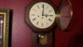 8-day Keywound Westminster Schoolhouse Clock