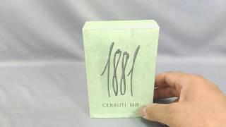 Cerruti 1881 : Fragrance Review | May 2019