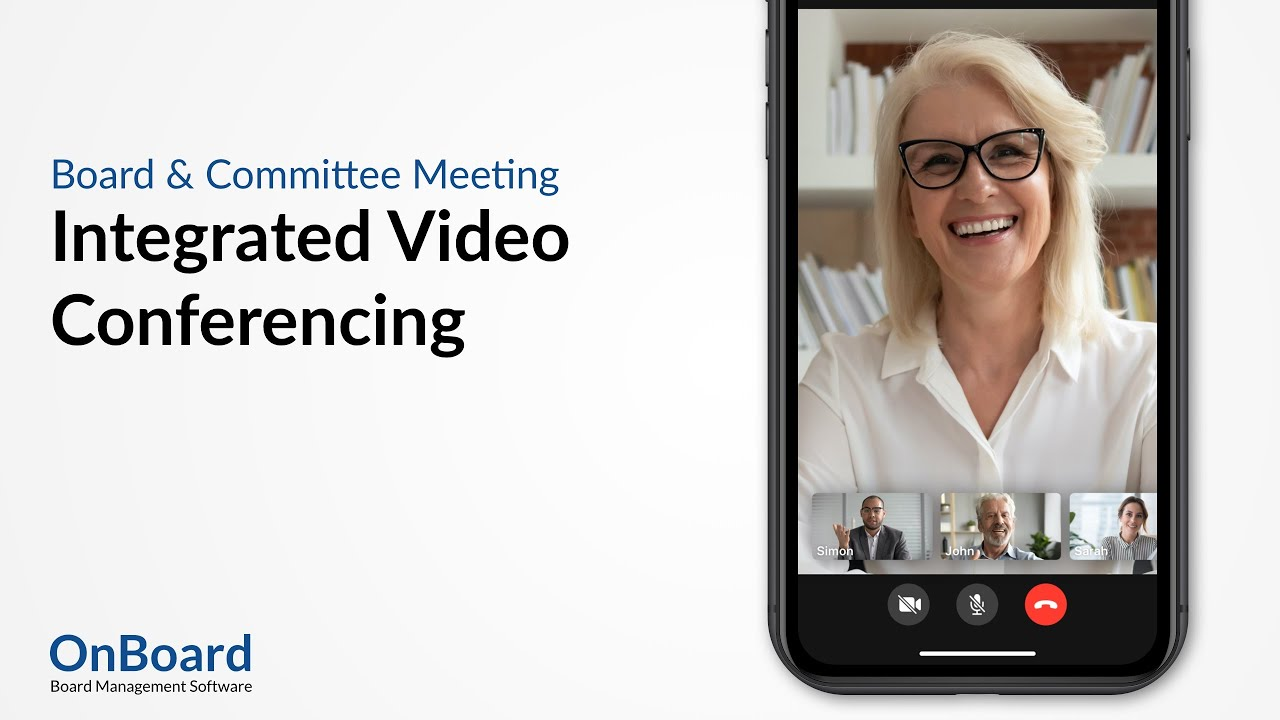 OnBoard Integrated Video Conferencing | Exclusive Zoom Integration | Board Management Software