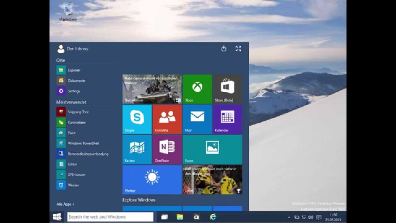 Windows 10 tutorial anf nger basics deutsch german for Window in german