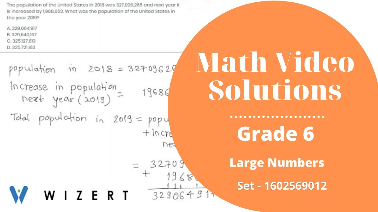 small resolution of Grade 6 Math Tests - Maths Large Numbers worksheets for Grade 6 - Set  1602569012 - YouTube