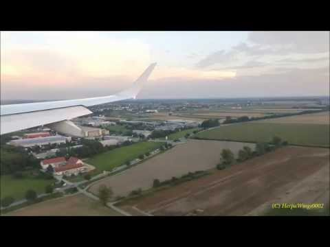 Toulouse to Munich on Lufthansa ERJ190 & stormy takeoff