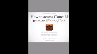 Using the iTunes U app on your iPhone