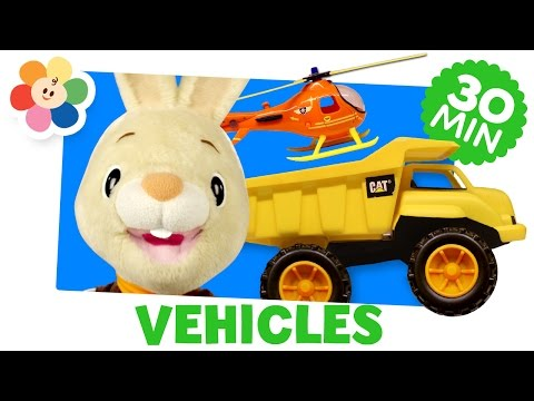Learning Vehicles | Firetruck, Helicopter, and More | Cars for Kids | Harry the Bunny | BabyFirst