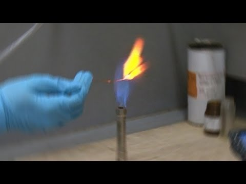 Calcium Chloride In Bunsen Flame (reaction Only)
