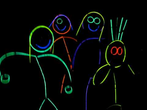 halloween 2009 new and improved glow stick people youtube - Glow Sticks For Halloween