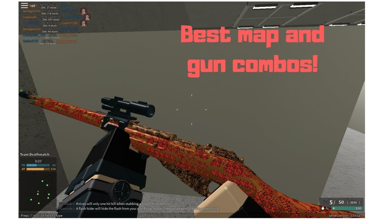 Best phantom forces map and gun combos