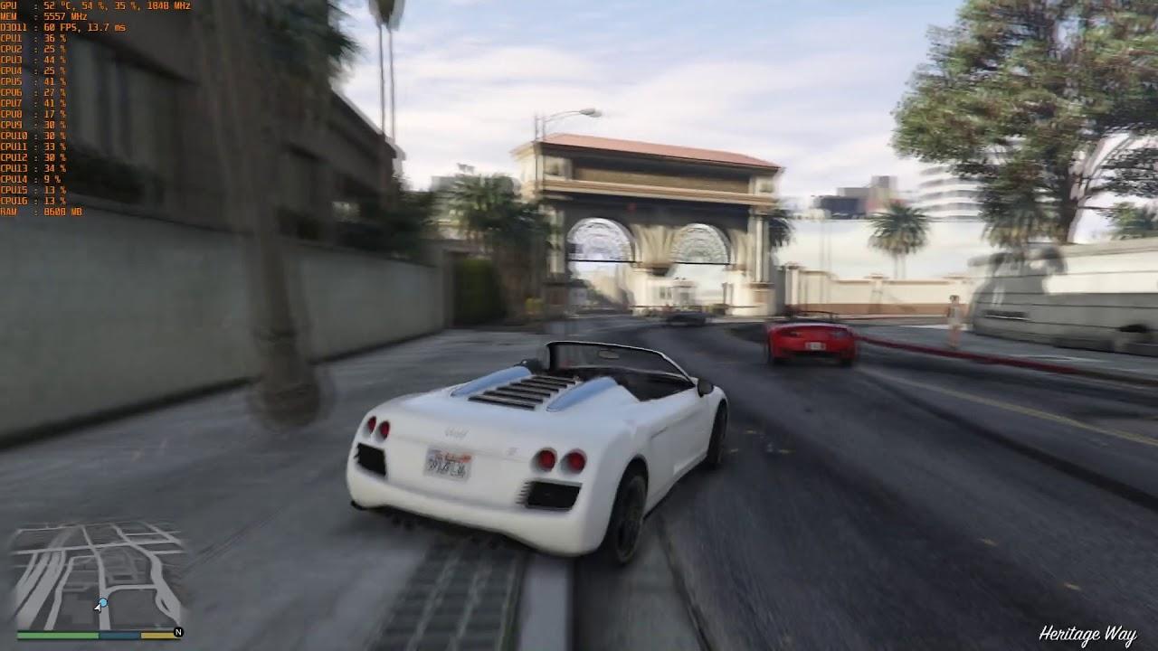 GTX 1080: GTA V - Best Settings for 4K/60 FPS