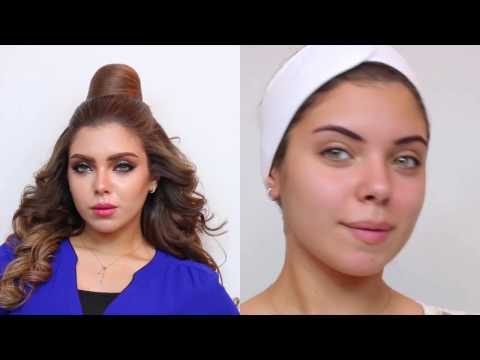 مكياج عبير علي سموكي ناعم Abeer Ali Smudged Eyeliner Makeup with Soft Smokey Eyes
