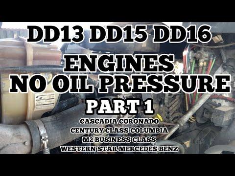 Freightliner cascadia DD13 DD15 DD16 no oil pressure engine failure damaged  main rod bearings part 1