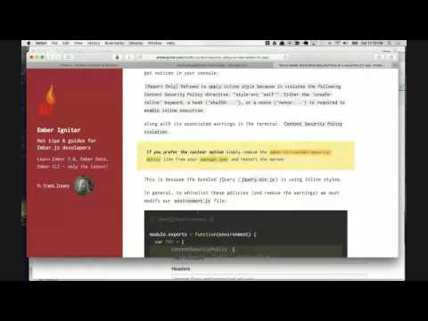 Live Code a Charity Auction Application: Episode 12 - Starting the Ember Web Client