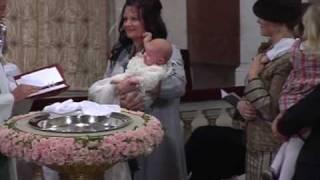 Prinsessan Märtha Louises & Ari Behns  dotter döps