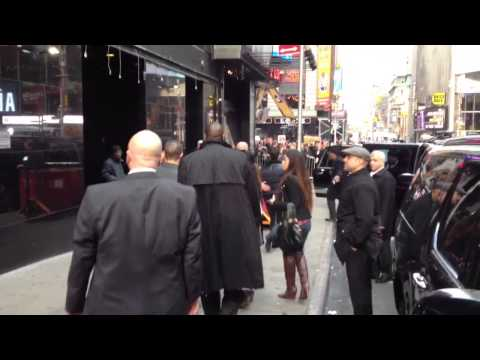 Jonas Brothers saying goodbye to each other outside GMA in NYC