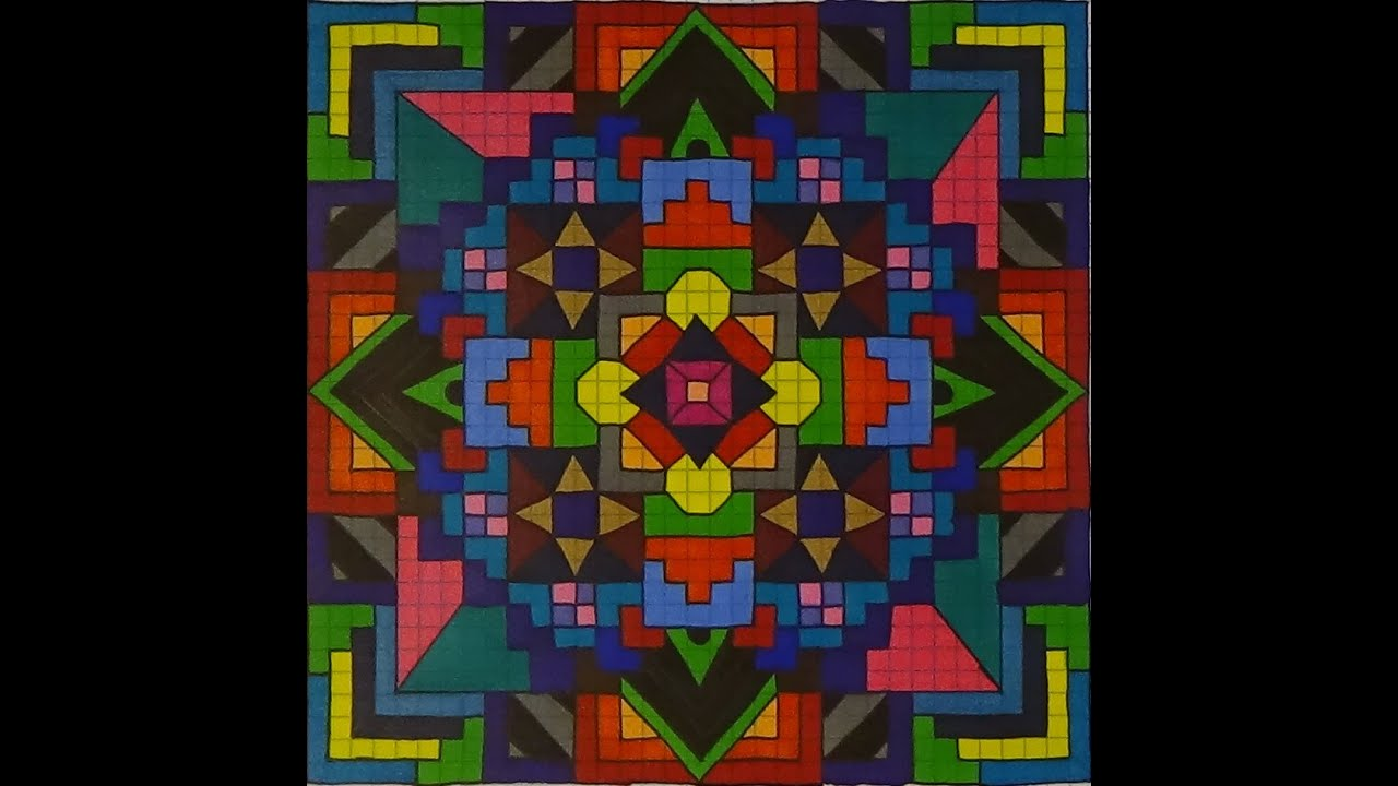 mandala on graph paper youtube
