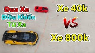 Lâm Vlog - Thử Chơi và So Sánh Xe Điều Khiển Từ Xa Giá 40k vs 800k | Đua Xe Điều Khiển Từ Xa