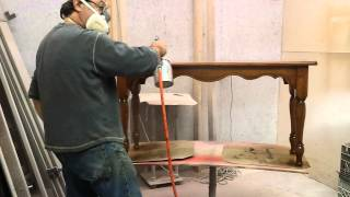 Refinishing A Oak Sofa Table  At Timeless Arts