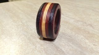 Make A Wooden Ring Using Exotic Hardwood Veneers